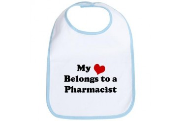 Heart Belongs: Pharmacist Pharmacist Bib by CafePress
