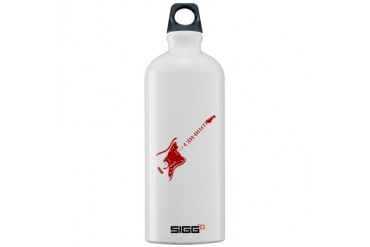 Red guitar Guitar Sigg Water Bottle 1.0L by CafePress