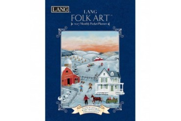 Mary Singleton Lang Folk Art Monthly Planner with Pock