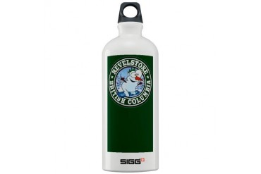 Revelstoke Snowman Circle Green Sigg Water Bottle Canada Sigg Water Bottle 1.0L by CafePress