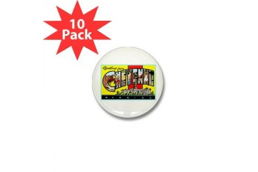 Cheyenne Wyoming Greetings Vintage Mini Button 10 pack by CafePress