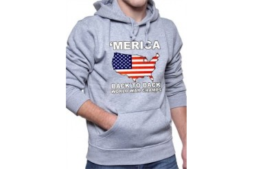 'Merica Back To Back World War Champs Adult Hoodie