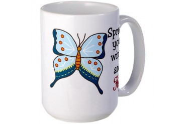 Spread Your Wings and Fly Animal Large Mug by CafePress