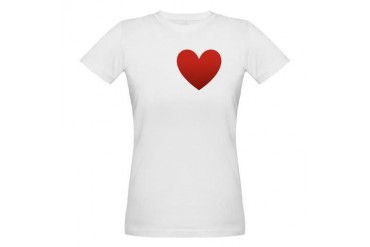 i-love-grape-dark-tee.png Humor Organic Women's T-Shirt by CafePress
