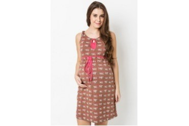 Nursing Knot Dress with Shoulder Detail