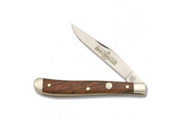 Queen Slimline Trapper #11 with Curly Zebra Wood Handle