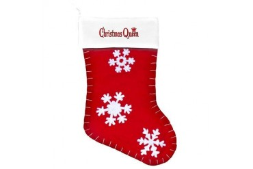 Christmas Queen Christmas Customized Felt Christmas Stocking by CafePress