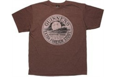Guinness Moonshine Brand Distressed T-Shirt Sheer