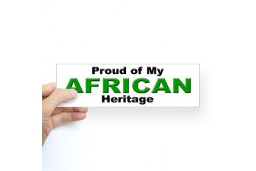 Proud African Heritage Bumper Sticker African american Sticker Bumper by CafePress
