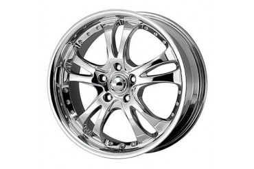 American Racing Wheels AR383 Casino, 16x7 with 5 on 4.5 Bolt Pattern - Silver With Machined Face And Lip AR3836766 Wheels