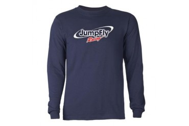 Blue JumpFly Racing Long Sleeve Sports Long Sleeve Dark T-Shirt by CafePress