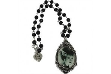 Bride of Frankenstein Portrait Rosary Style Necklace