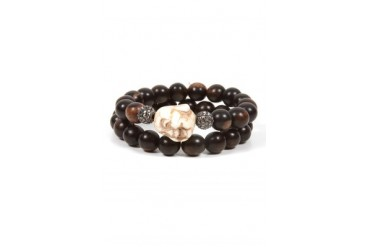 Beaded Buddha Bracelet in Brown - designed by HIPCHIK