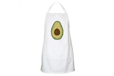 Avocado BBQ Vegetarian Apron by CafePress