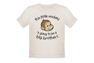 Big Brother to be - Monkey Face Organic Toddler T-