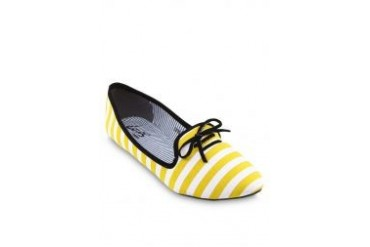 Louis Cuppers Striped Slipper Shoes With Ribbon