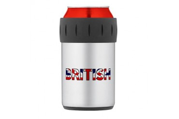 British Thermos Can Cooler Funny Thermosreg; Can Cooler by CafePress