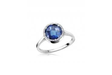 Florence - Blue Hydrothermal Stone Ring