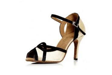 Women's Satin Heels Sandals Latin With Buckle Dance Shoes (053051807)
