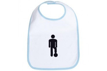 Male Soccer Player Funny Bib by CafePress
