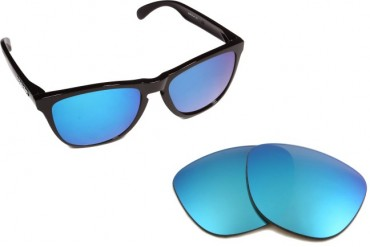 New SEEK OPTICS Replacement Lenses Oakley FROGSKINS - Silver Grey Blue
