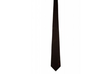 Alexander Mcqueen Charcoal And White Pin Dot Tie