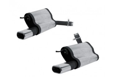 REMUS Stainless Dual Mufflers w135x75mm Dual Tips Mercedes-Benz E200 Compressor 1.8L W211 03-09