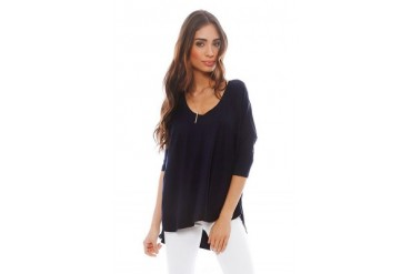 Sparrow Top in Navy - designed by Feel The Piece