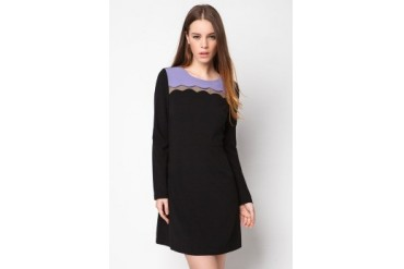 bread n butter Scallop Crepe Dress