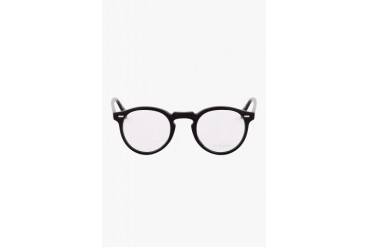 Oliver Peoples Black Glossy Gregory Peck Optical Glasses