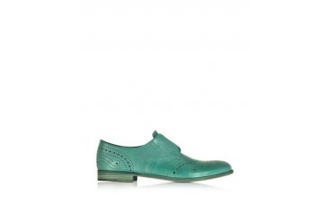Turquoise Derby Shoes