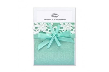 Classic Style Wrap & Pocket Invitation Cards With Ribbons (set of 50) (114040281)