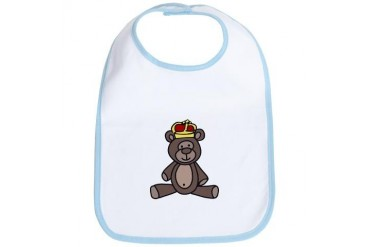 Prince Teddy Bear Bear Bib by CafePress