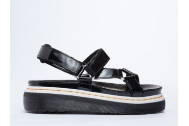 Agyness Deyn X Dr. Martens Aggy Sandal in Black Patent size 11.0