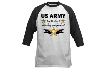 US Army Brother defending Military Baseball Jersey by CafePress