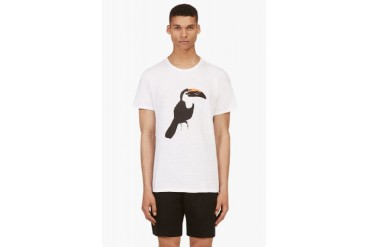 Rag And Bone White Toucan Graphic T shirt