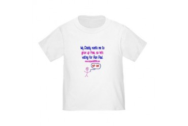 Daddy/grow up free Toddler T-Shirt