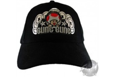 Nintendo Bling Bling Black Embroidered Stretchable Hat