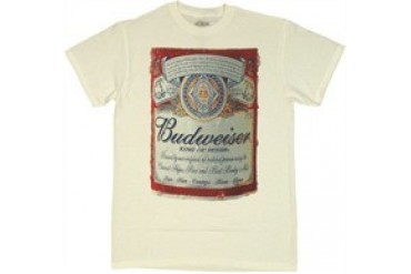 Anheuser-Busch Budweiser Full Label with Condensation T-Shirt
