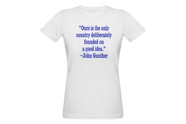 GuntherIdeaBlue Tea party Organic Women's T-Shirt by CafePress