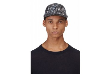 Marc By Marc Jacobs Black And Blue Rex Snake Cap