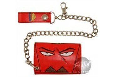 Aqua Teen Hunger Force Frylock Polymer Tri-Fold Wallet with Chain