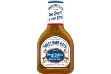 Sweet Baby Ray s Sweet Golden Mustard Barbecue Sauce 18 oz Bottle