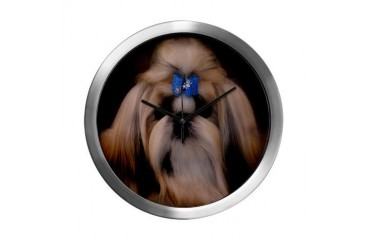 Shih Tzu Dog Modern Wall Clock by CafePress
