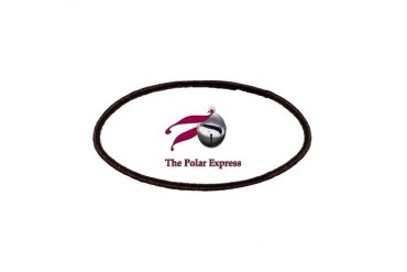 The Polar Express Train on Believe Bell Christmas Patches by CafePress