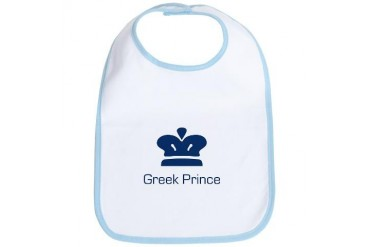 Greek Prince Baby Bib by CafePress