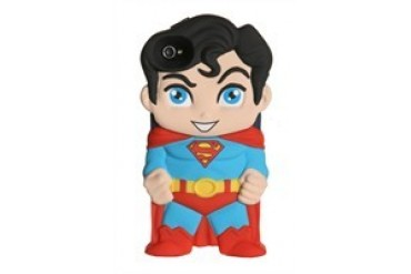 DC Comics Superman Chara-Cover iPhone 4/4S Rubberized Hard Phone Case