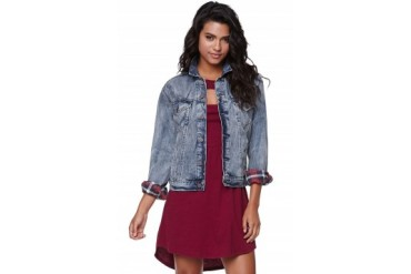 Womens Volcom - Volcom Ride Along Plaid Denim Jacket