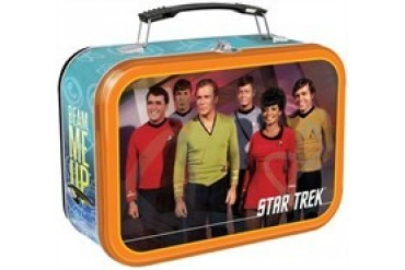 Star Trek Classic Group Beam Me Up Tin Tote Lunch Box
