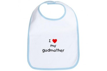 I love my godmother Baby Bib by CafePress